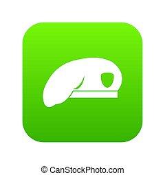 wojskowy, ikona, zielony, beret, cyfrowy