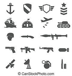 wojskowy, ikony