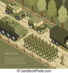 wojskowy, isometric, kampania, tło