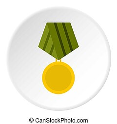 wojskowy, koło, medal, ikona