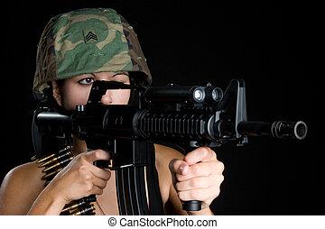 wojskowy, kobieta