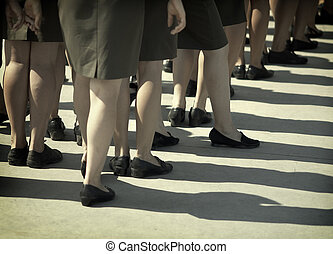 wojskowy, kobiety
