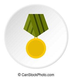 wojskowy, medal, koło, ikona