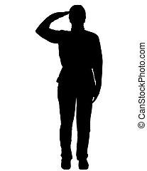 wojskowy, pozdrawiać