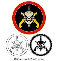 wojskowy, szczególna siła, symb