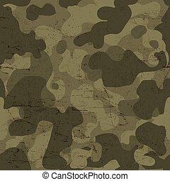wojskowy, wektor, pattern., seamless, kamuflaż
