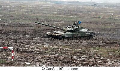 wojskowy, zbiornik, współzawodnictwo, biathlon