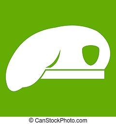 wojskowy, zielony, beret, ikona