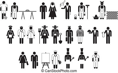 wokers, pictograms