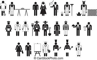 wokers, pictograms