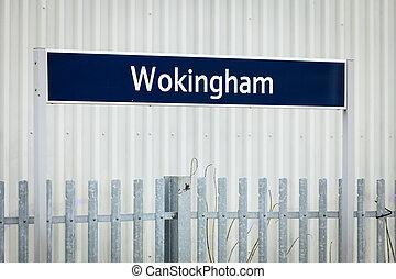 Wokingham sign in England