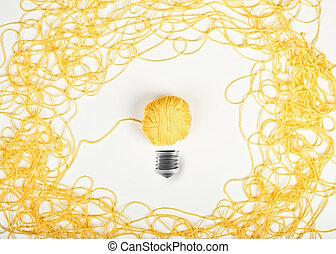 wol, concept, idee, bal, innovatie