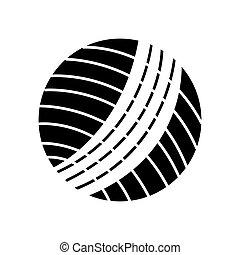 wol, pelota, aislado, icono