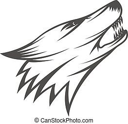 wolf, abbildung, kopf