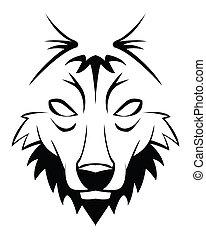 wolf, abstrakt