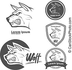 wolf angry logo