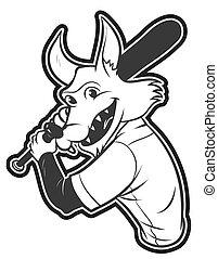 wolf, baseball
