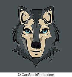 Wolf cartoon print for t shirt