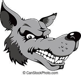 Wolf, cartoon vector illustration