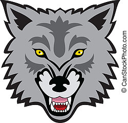 Wolf Face - Vector Illustration Of Wolf Face