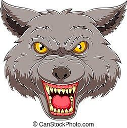 Wolf head emblem mascot