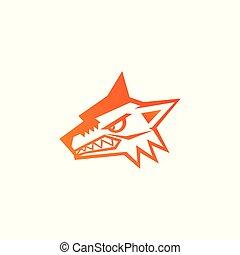 Wolf head icon, logo vector design