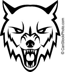 Wolf head illustration design