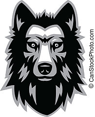 wolf head - Animal head vector illustration