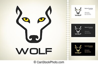 Wolf head logo vector. Animal design.