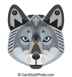 Wolf Head Logo. Vector decorative Emblem.