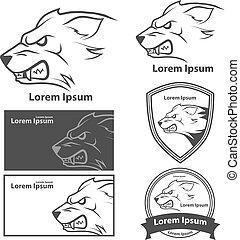 wolf head power logo