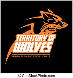 Wolf Head Symbol. Great for Badge Label Sign Icon Logo Design.