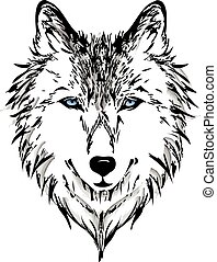 Wolf head vector graphic