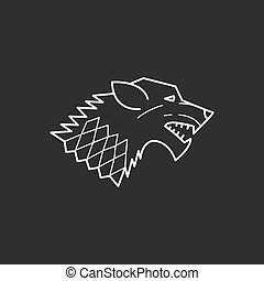 Wolf head. Vector illustrations