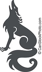 wolf-howling-side-CELTIC-KNOT