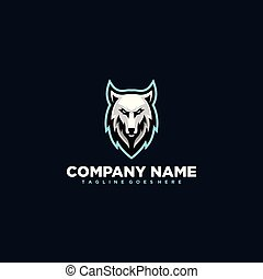 Wolf illustration Design vector template