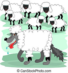 Wolf in sheep's clothing - A wolf in sheep's clothing is...