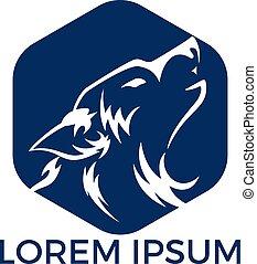 Wolf Logo Design.