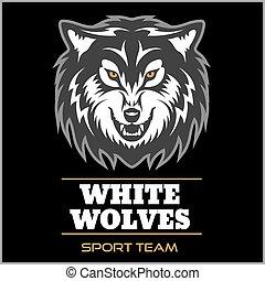 Wolf logo for a sport team