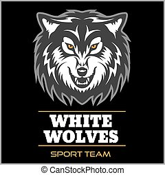 Wolf logo for a sport team