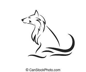 Wolf Logo icon vector illustration design