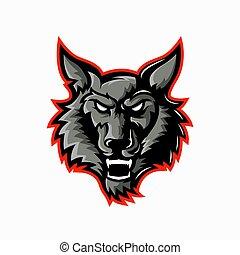 Wolf Logo Mascot Design for esports team