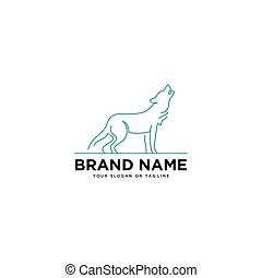 wolf logo vector design