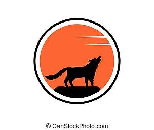 Wolf Logo vector icon illustration design