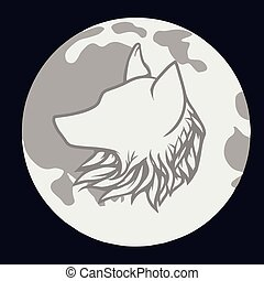 Wolf on the moon