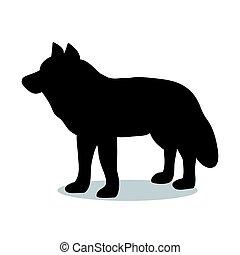 Wolf predator black silhouette animal