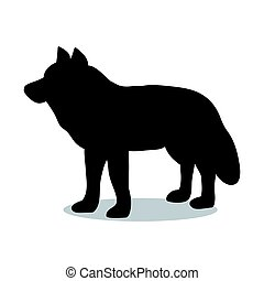 Wolf predator black silhouette animal