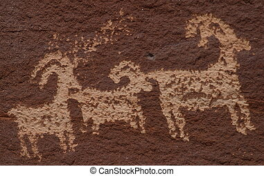 Wolf Ranch Petroglyphs from Arches National Park.