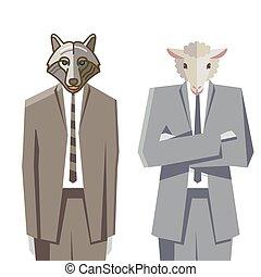 Wolf + Schaf