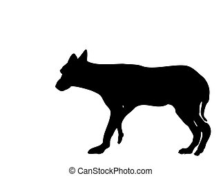 wolf - silhouette-vector